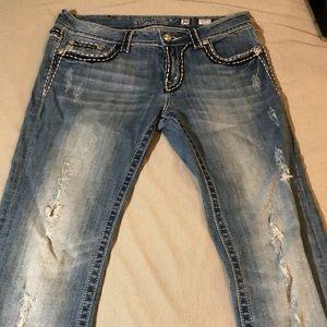 MissMe brand women's jeans size 30Wx35L boot cut.